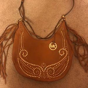 MICHAEL KORS Rhea Fringe Studded Shoulder Bag